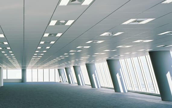 ゆとりあるオフィス空間